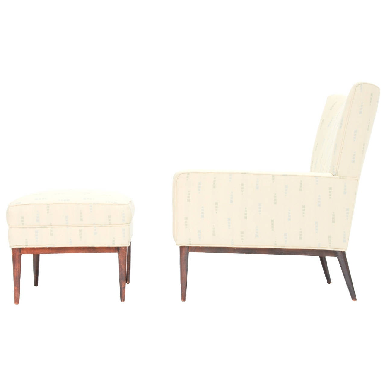 paul mccobb 1312 high back club chair and 314 ottoman for directional furniture at 1stdibs