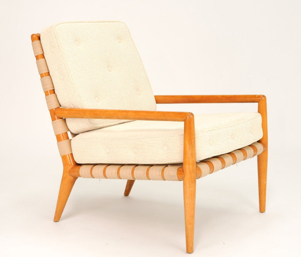 Plastic strap lounge chairs - A T H Robsjohn Gibbings Strap Lounge Chair For Widdicomb 2