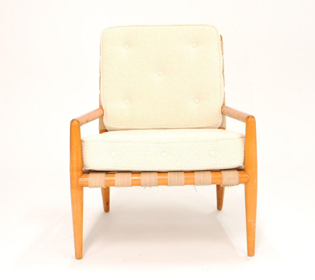 Plastic strap lounge chairs - A T H Robsjohn Gibbings Strap Lounge Chair For Widdicomb 3