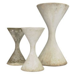 A Trio of Willy Guhl and Anton Bee's Spindel Planters