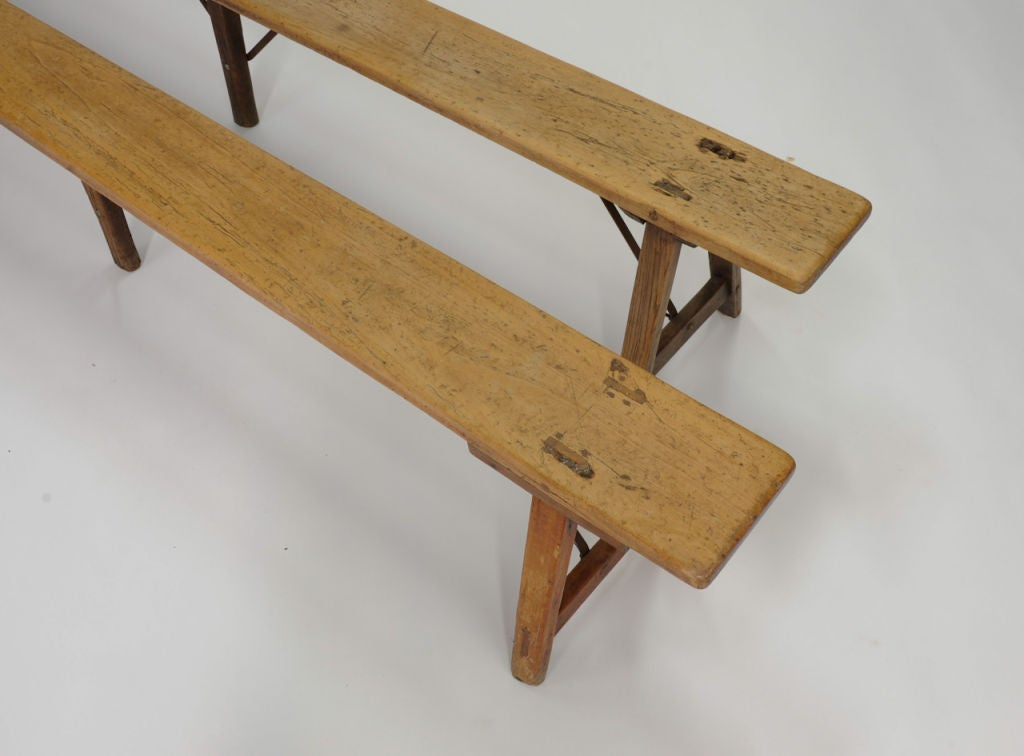 A Pair Of 8 39 8 French Country Artisan Benches At 1stdibs
