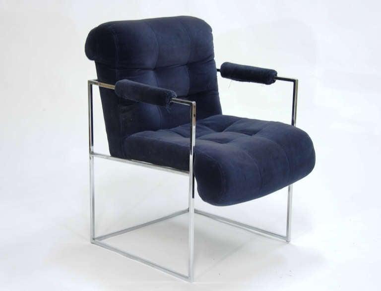 Mid-Century Modern Set of Four Milo Baughman Armchairs For Sale