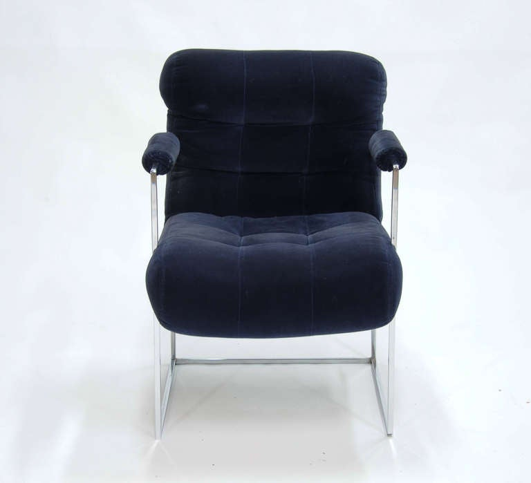 American Set of Four Milo Baughman Armchairs For Sale
