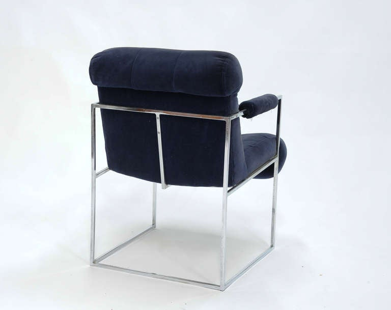 Set of Four Milo Baughman Armchairs In Good Condition For Sale In Portland, OR