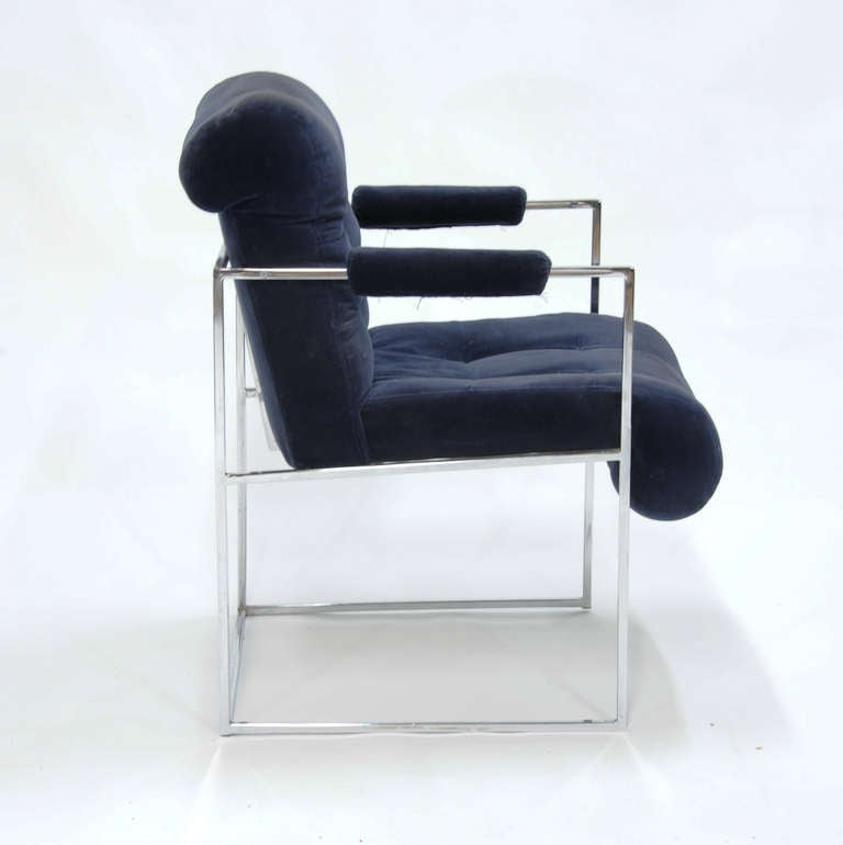 Mid-20th Century Set of Four Milo Baughman Armchairs For Sale