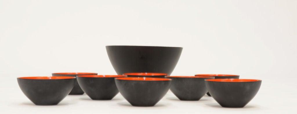Herbert Krenchel Krenit Bowls Set of Nine for Torben Orskov 4