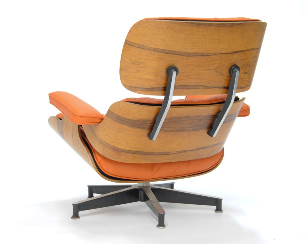 Eames 670 And 671 Lounge Chair In Quot Hermes Quot Orange Leather