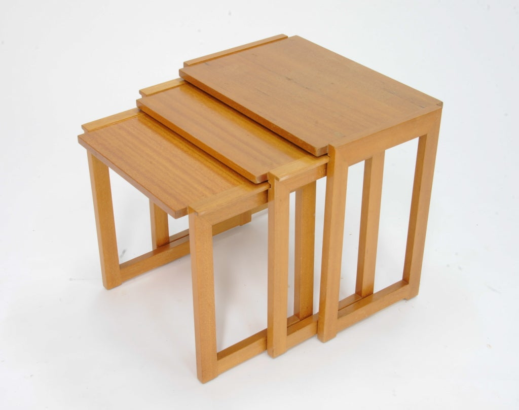 Stackable Nesting Tables ~ Paul laszlo nesting side tables at stdibs