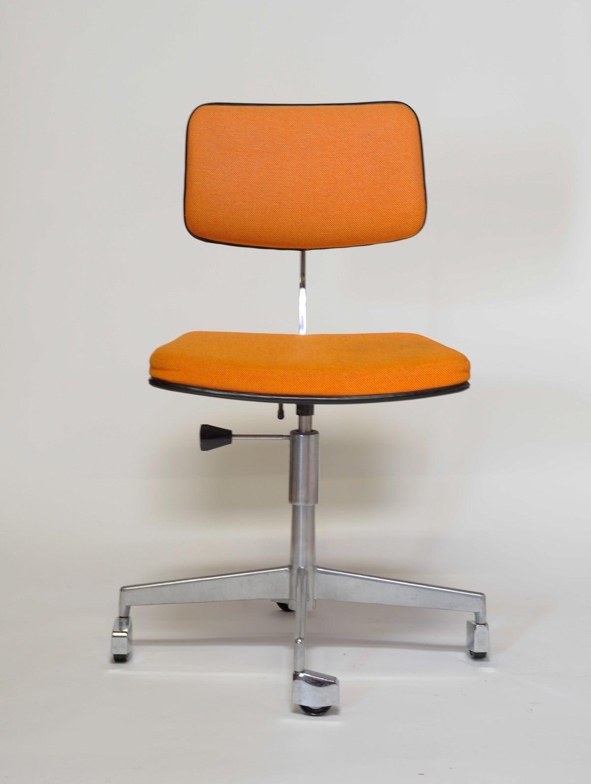 1960s Labofa Danish Rolling fice Chair at 1stdibs