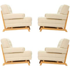 Set of 4 Paul Laszlo Club Chairs