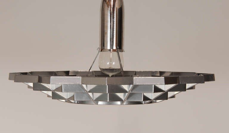 Mid-20th Century Set of Four Snowflake Pendant Lights For Sale