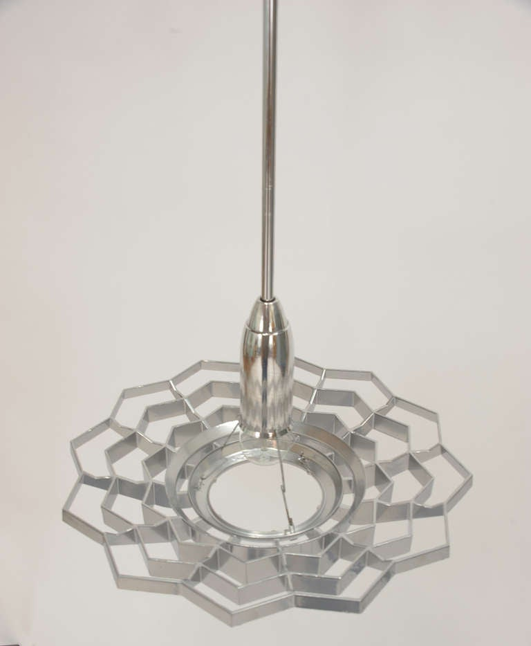 Set of Four Snowflake Pendant Lights For Sale 1