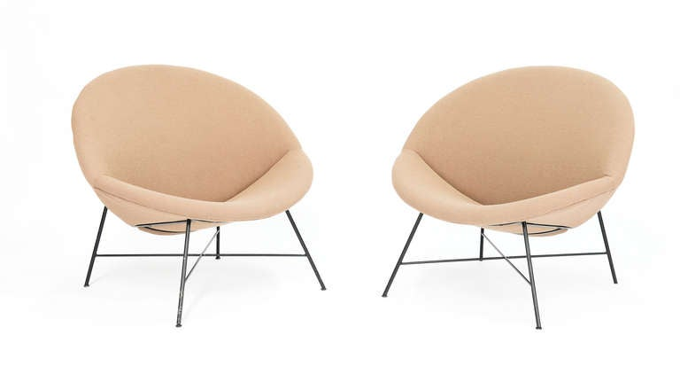 Charmant A Wonderful Pair Of Half Moon Chairs Is Grand Scale And Comfort. The Chairs  Are