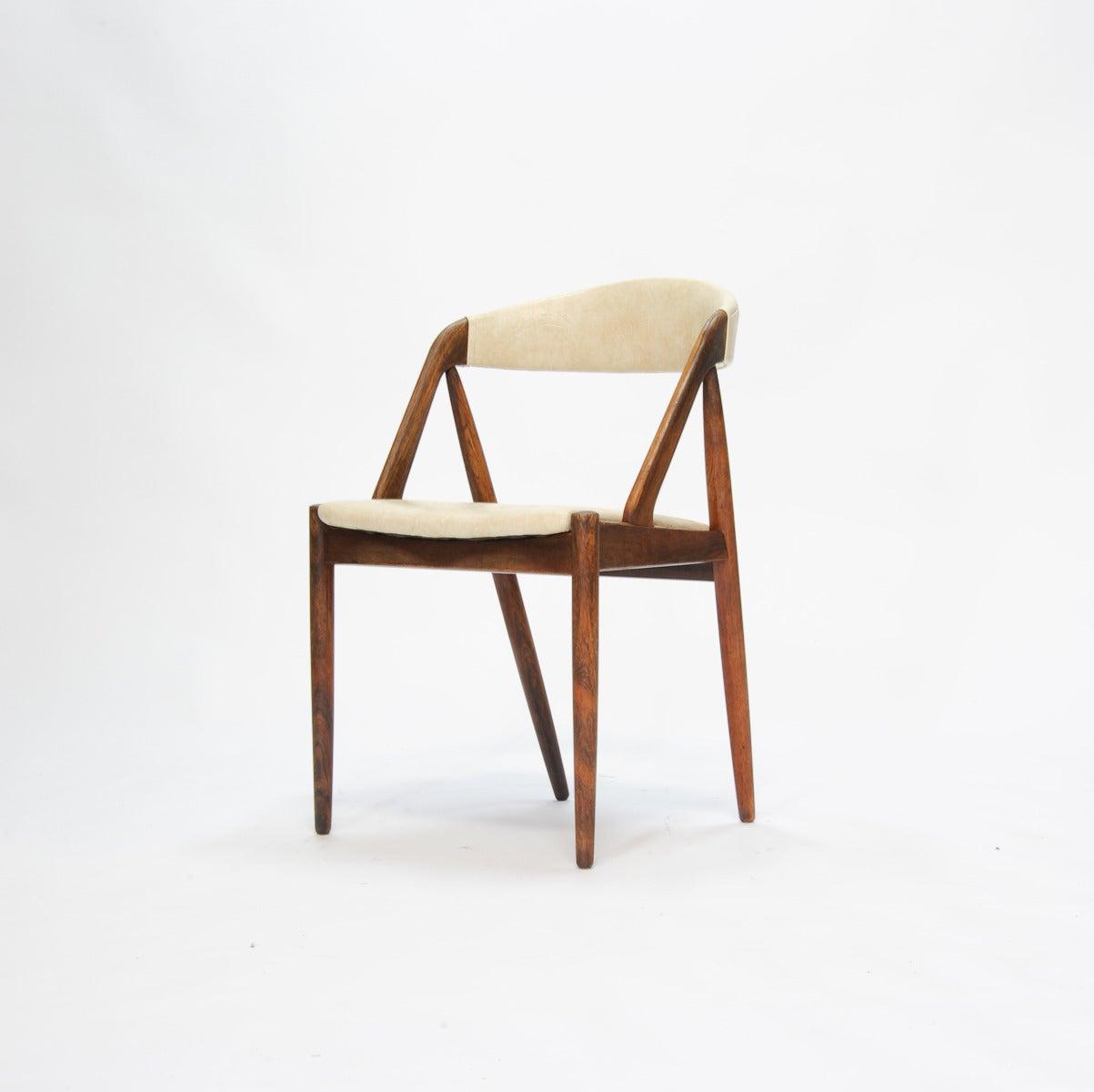 Set of four rosewood kai kristiansen dining chairs at 1stdibs - Kai kristiansen chair ...