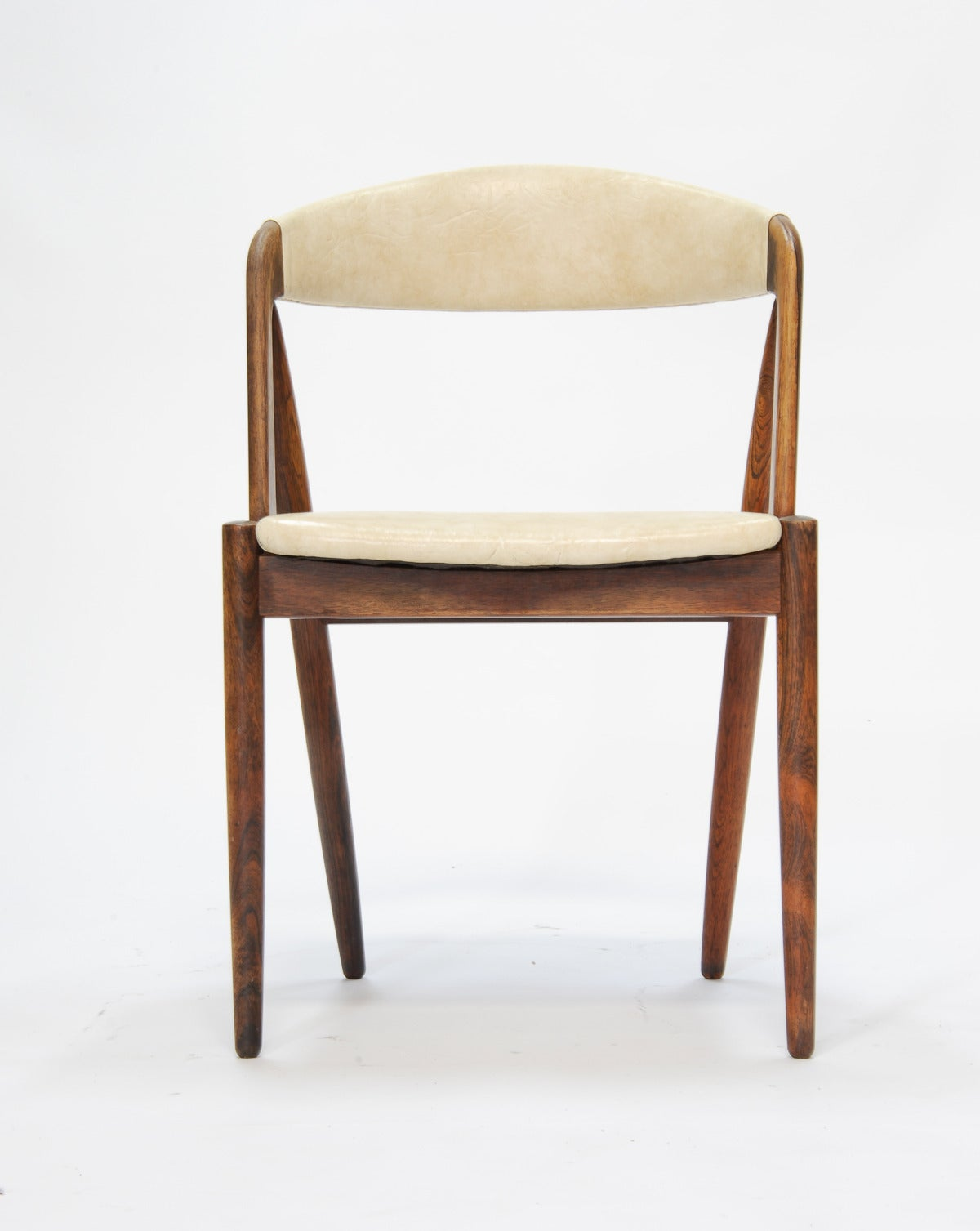 Set Of Four Rosewood Kai Kristiansen Dining Chairs At 1stdibs