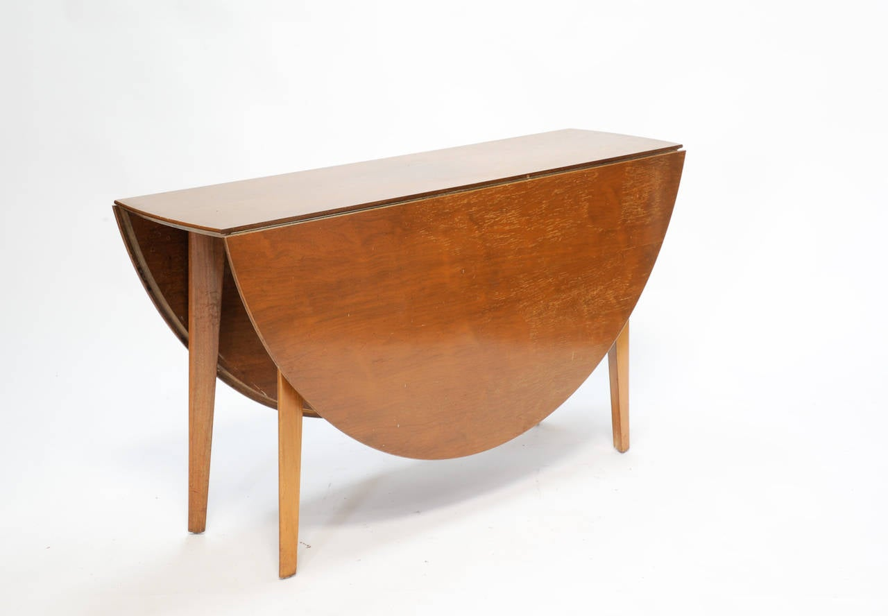 Edward Wormley Double Drop Leaf Dining And Console Table