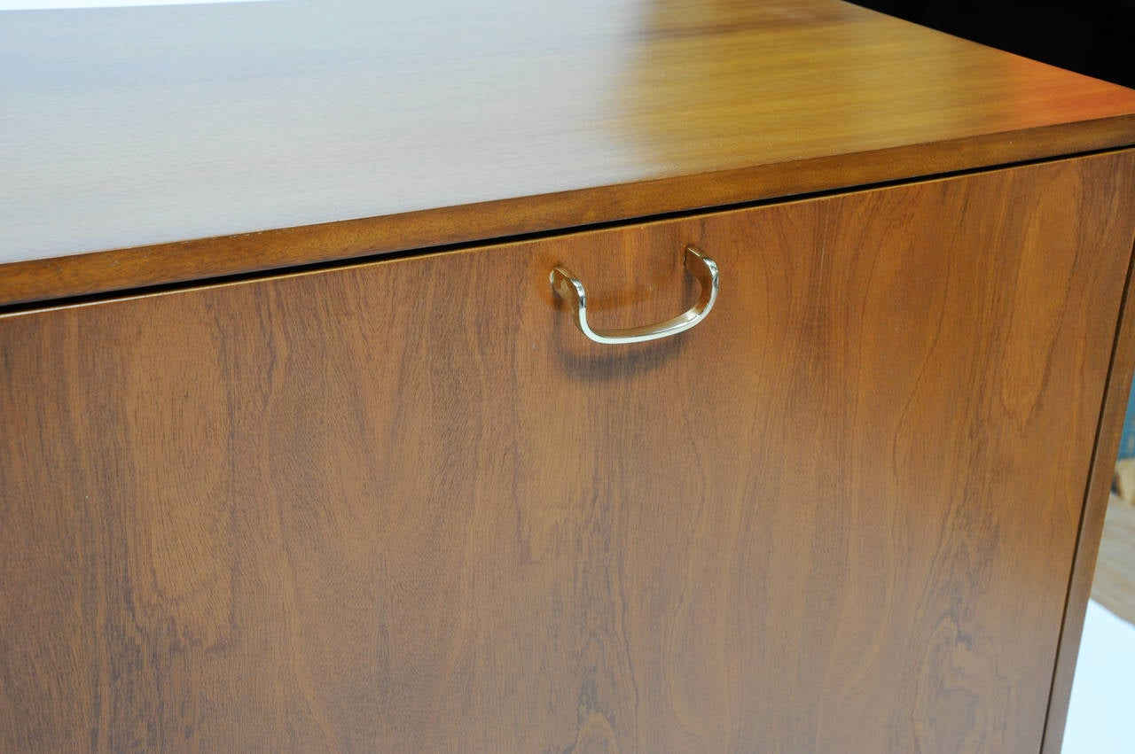 851 #814E21 Mahogany Harvey Probber Sideboard With Brass Pulls And Walnut Doors At  save image Harvey Doors 43271280