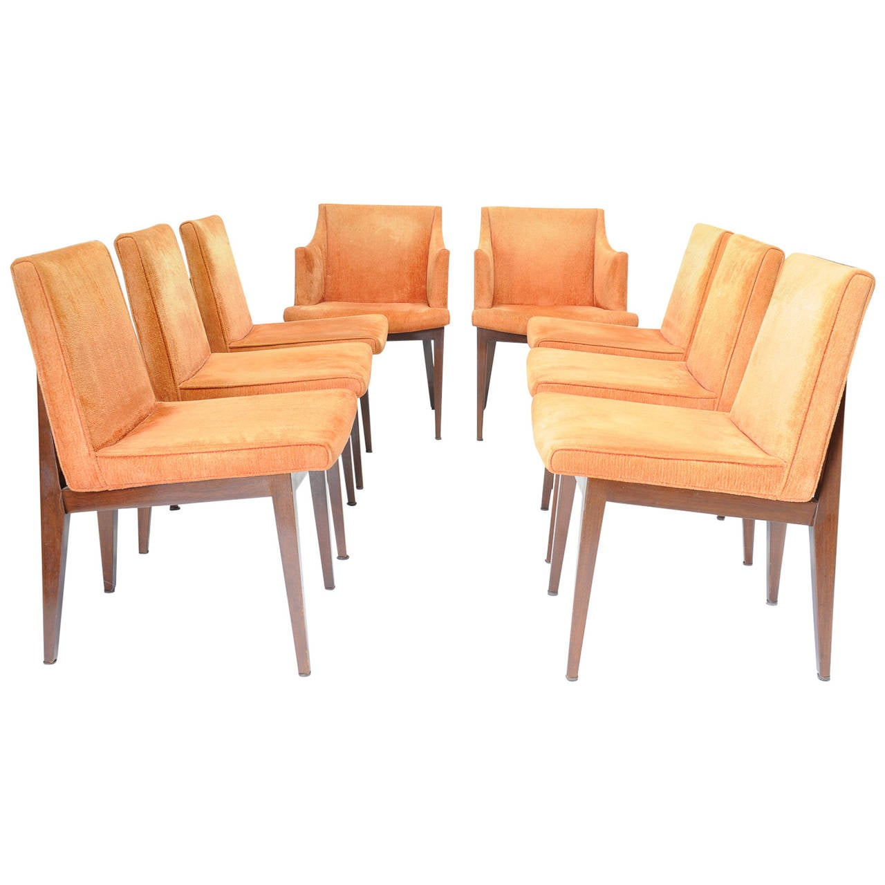 Good Set Of Eight Edward Wormley Dining Chairs For Dunbar Furniture Company 1