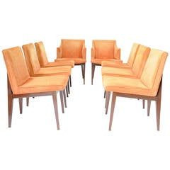 Set of Eight Edward Wormley Dining Chairs for Dunbar Furniture Company