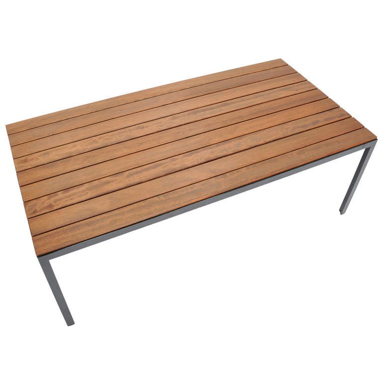 Florence Knoll Redwood Indoor And Outdoor Coffee Table At 1stdibs