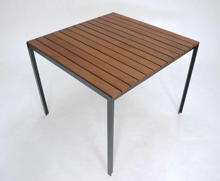 Florence Knoll Redwood Indoor Outdoor Dining Table At 1stdibs