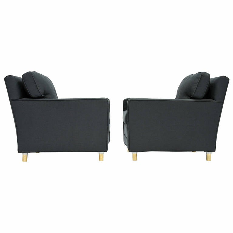 Classic Pair of Edward Wormley for Dunbar Club Chairs 1