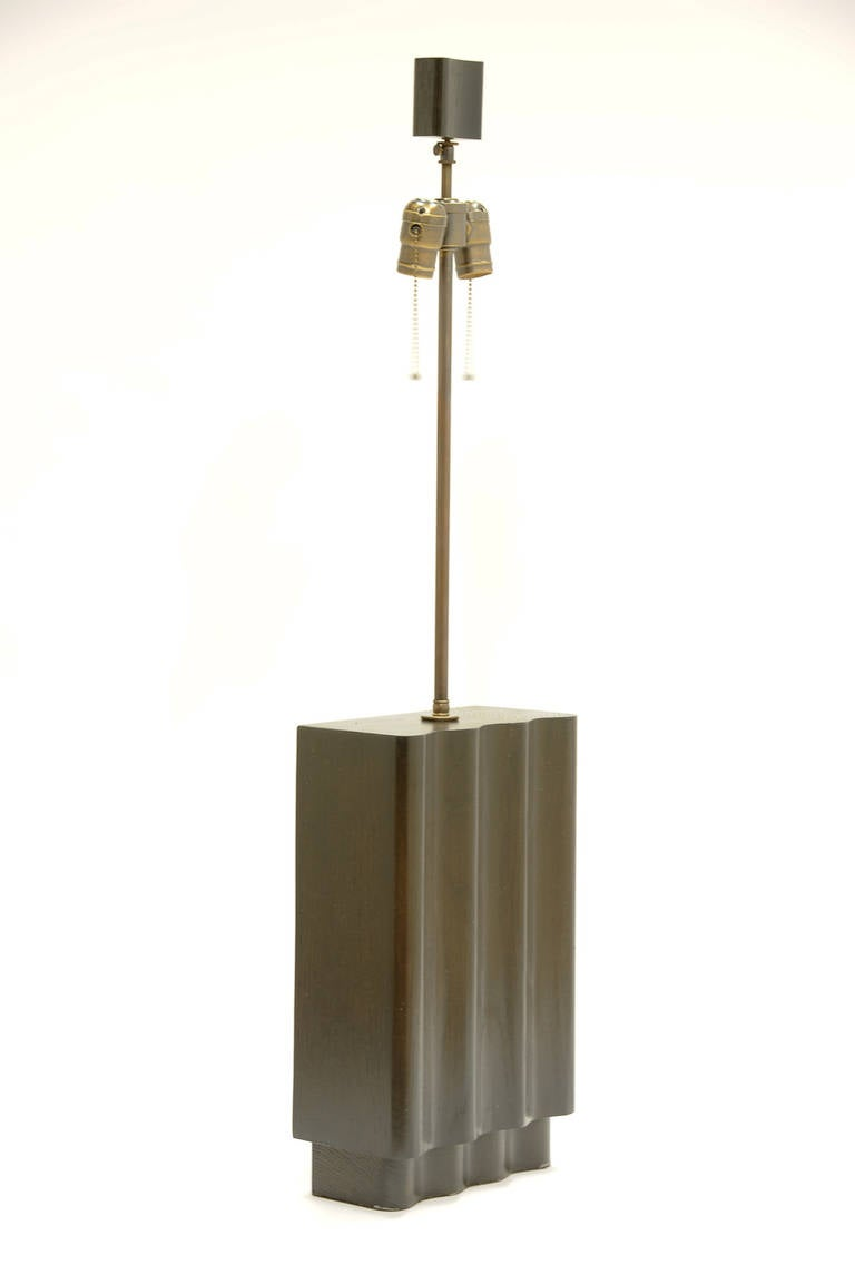 Mid-Century Modern Pair of Wave Lamps in the Manner of Paul Laszlo by F.F. Kern For Sale