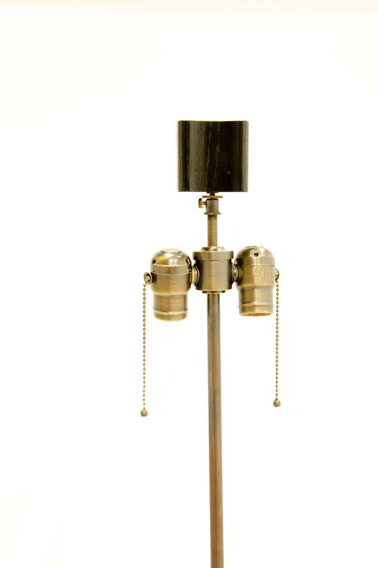 Pair of Wave Lamps in the Manner of Paul Laszlo by F.F. Kern For Sale 1