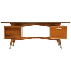 Custom Order Monteverdi-Young Executive Desk with Hour Glass Inlay Top