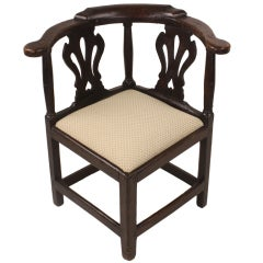 Welsh Period Oak Corner Chair