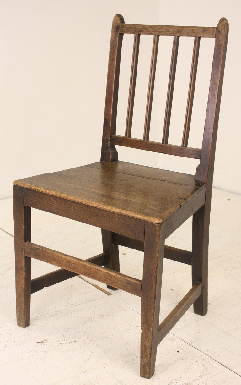 Three Antique English Hepplewhite Oak Side Chairs At 1stdibs