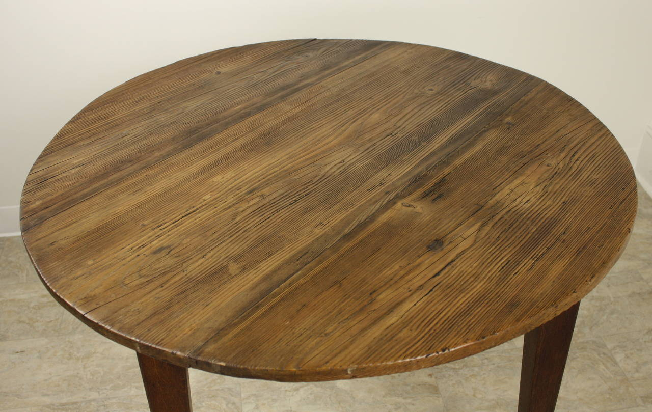 Antique French Pine Large Round Lamp Table At 1stdibs