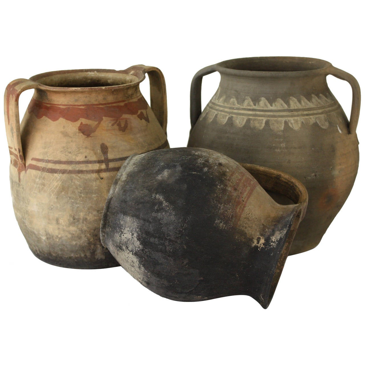 Collection of Three Antique Romanian Cooking Vessels