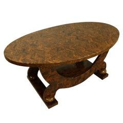 Coffee Table, Very Elegant Art Deco Marquetry
