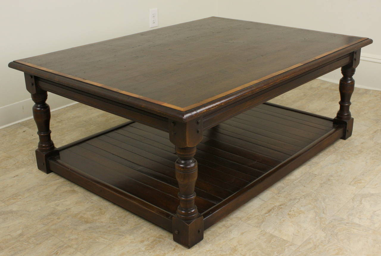 Dark Oak English Potboard Coffee Table For Sale At 1stdibs