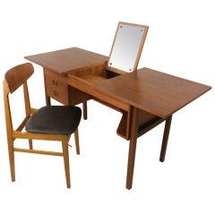 Maurice Villency Danish Mid Century Vanity and Chair