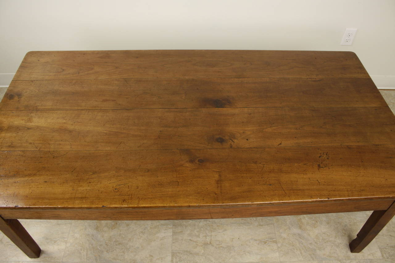 Antique French Cherry Two Drawer Coffee Table In Good Condition For Sale In  Port Chester