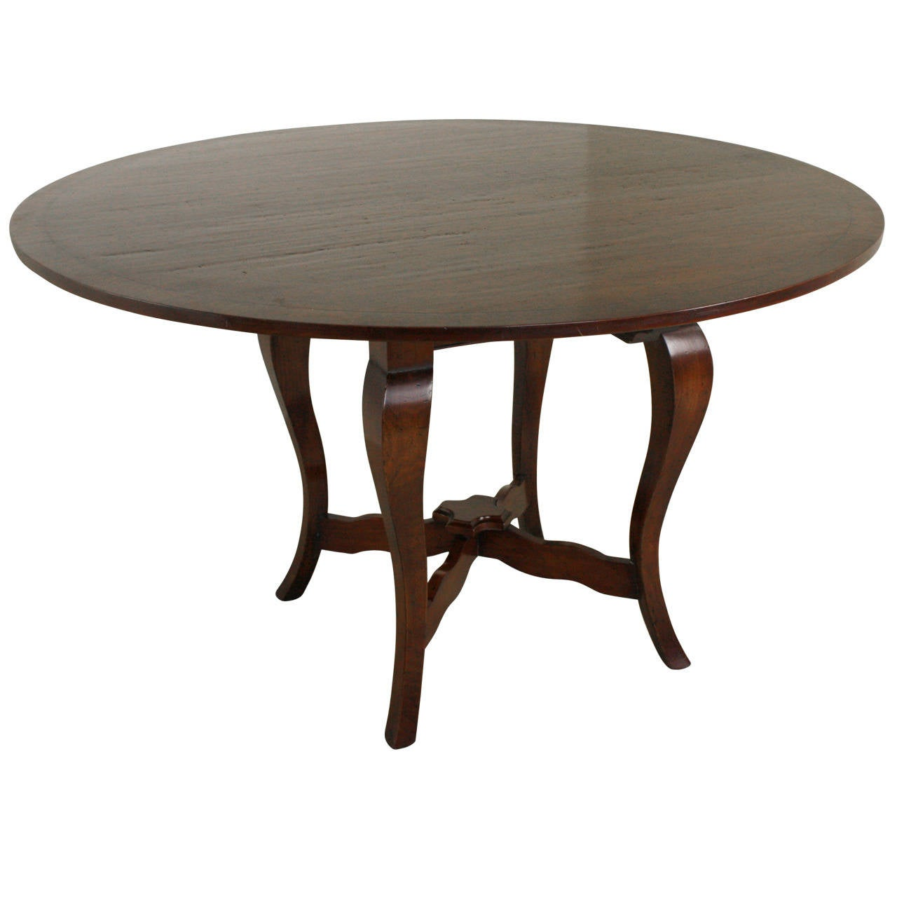 Round cherry ebony banded dining table at 1stdibs for Cherry dining table