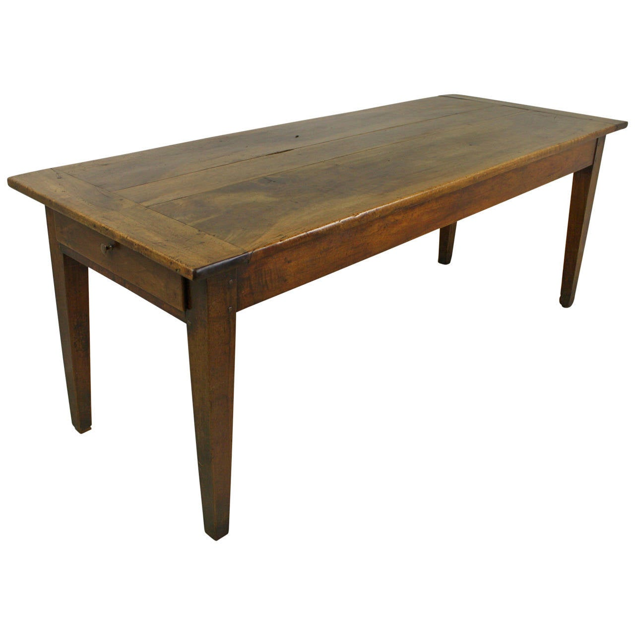 Antique French Walnut Farm Table at 1stdibs
