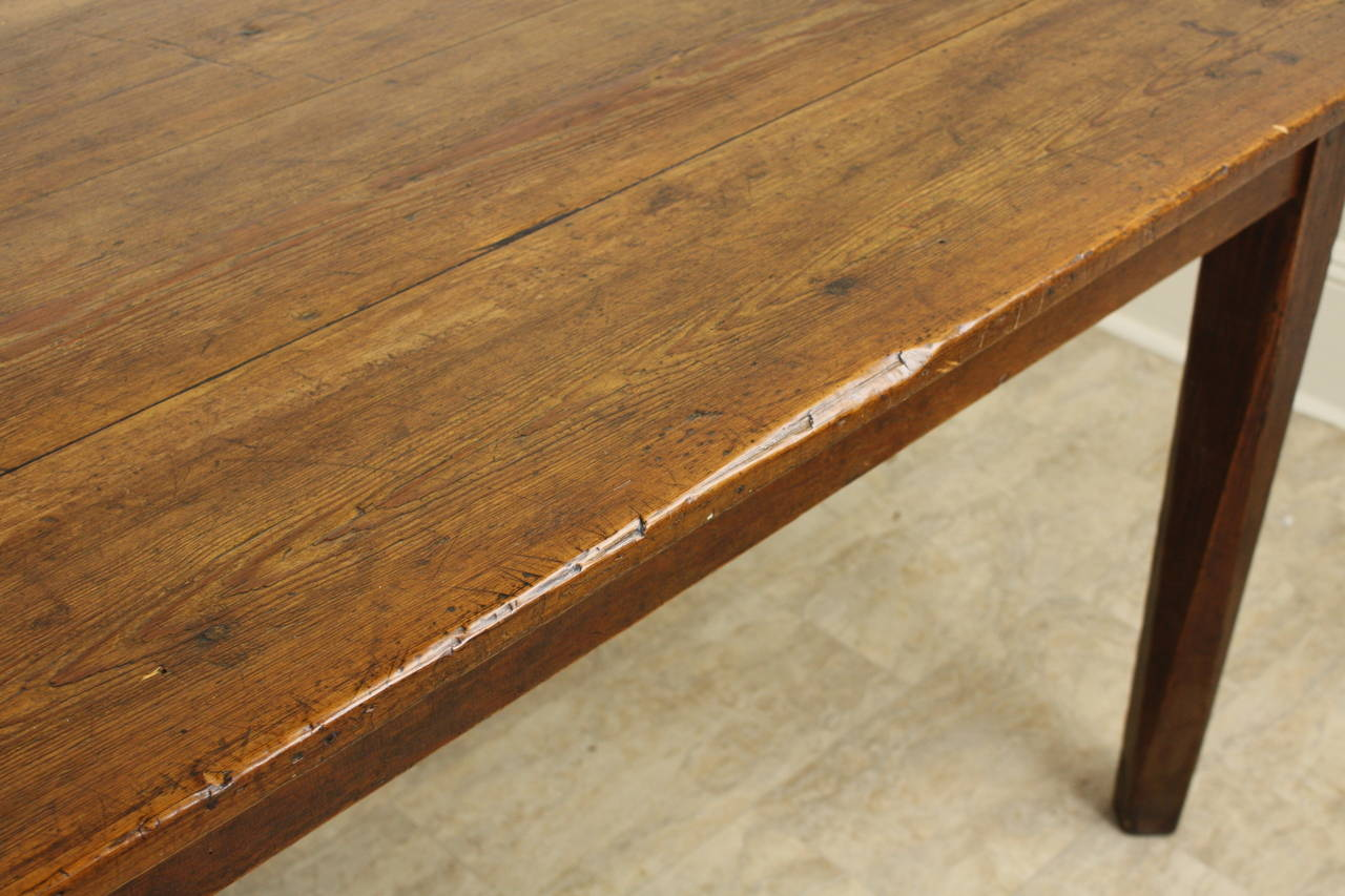 Antique French Pine Farmhouse Table 4