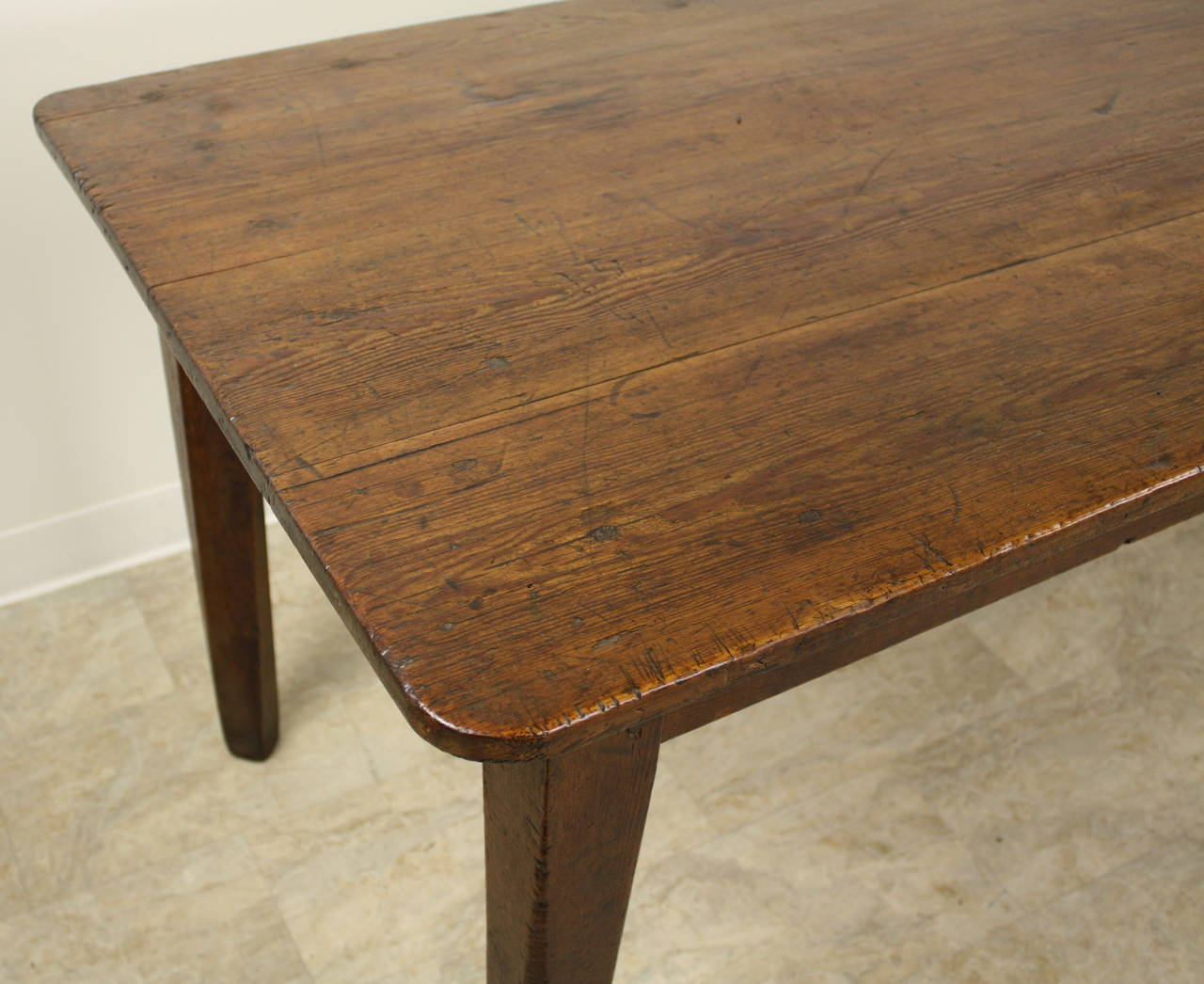 Antique French Pine Farmhouse Table 5