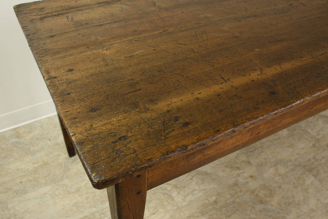 Long Antique French Pine Farm Table 3