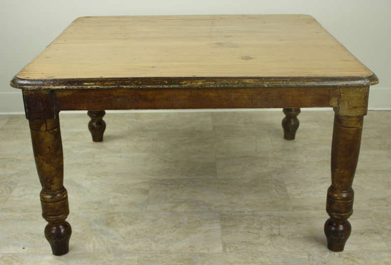 English Antique Coffee Table Pine Farm House Look At 1stdibs