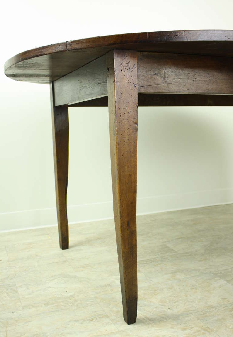 Antique walnut oval fench dining table wide planked at 1stdibs