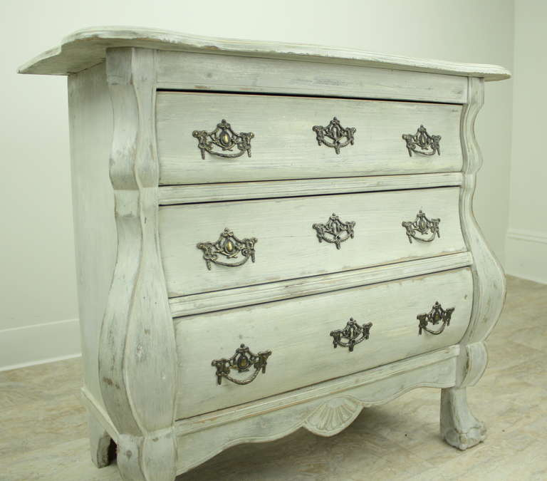 small antique dutch bombe commode at 1stdibs. Black Bedroom Furniture Sets. Home Design Ideas