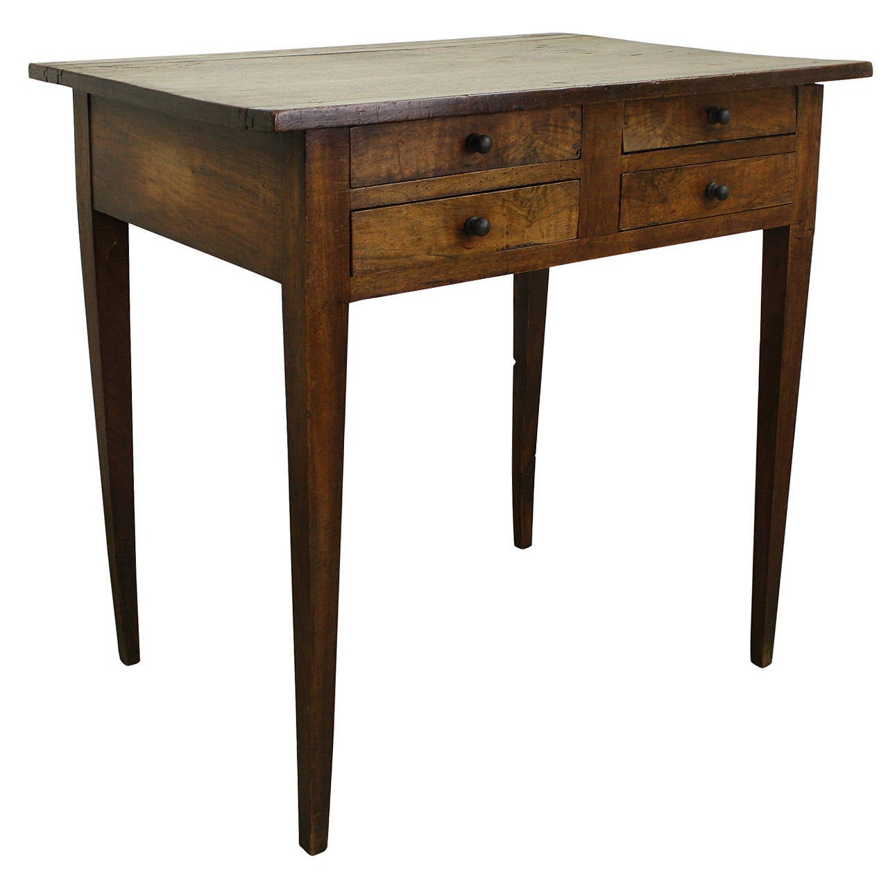 Antique french four drawer walnut side table at 1stdibs for End tables with drawers