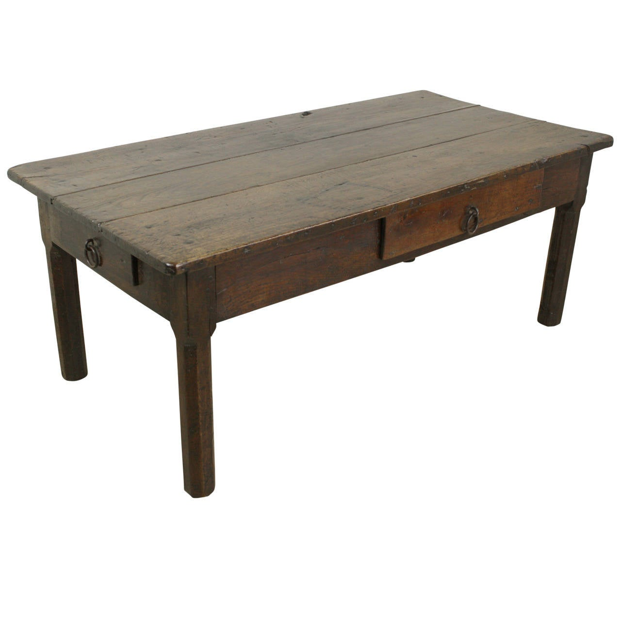 Early French Oak Coffee Table For