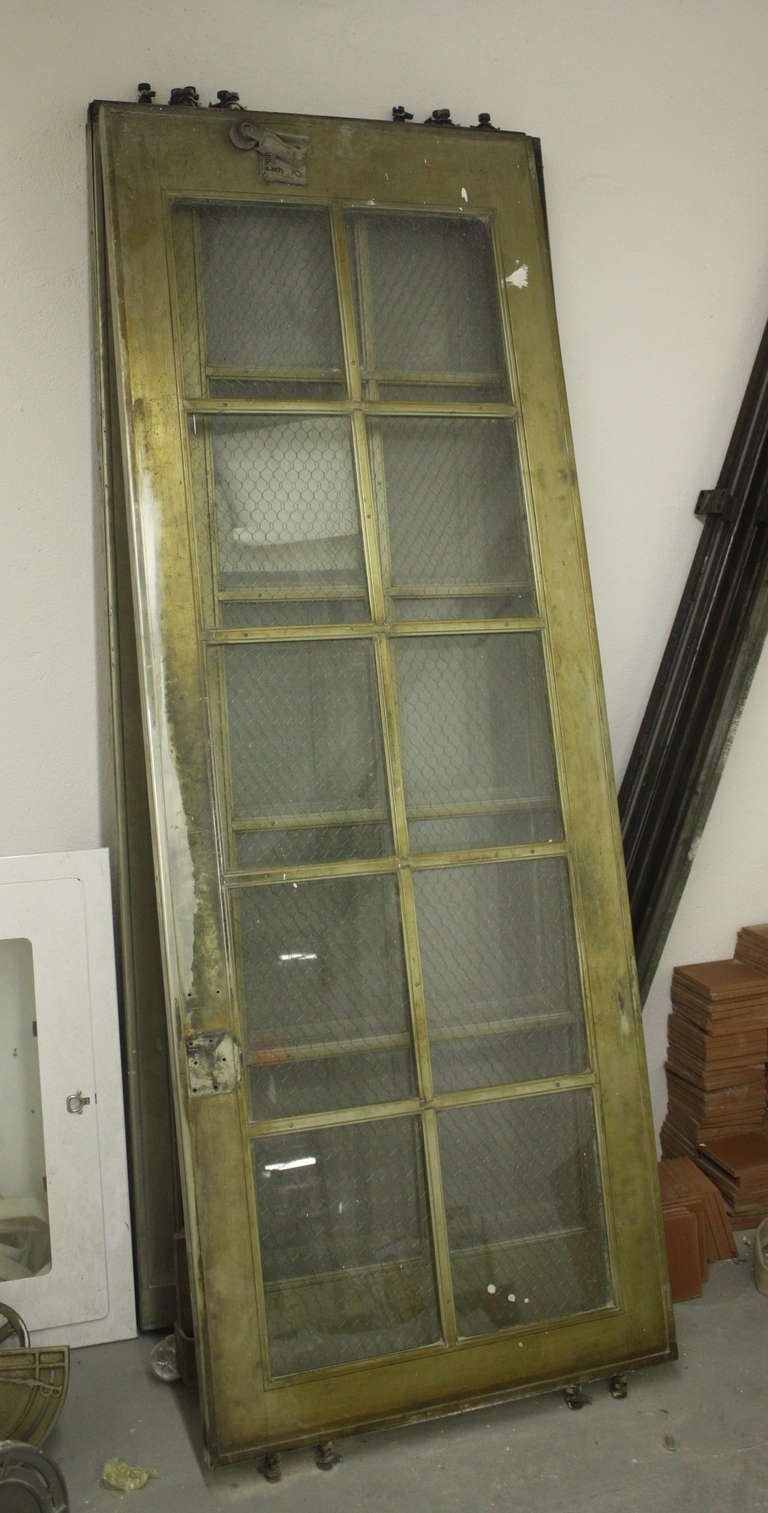 Four Nickel Plated Art Deco Elevator Doors At 1stdibs