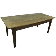 Antique French Oak Farmhouse Table.