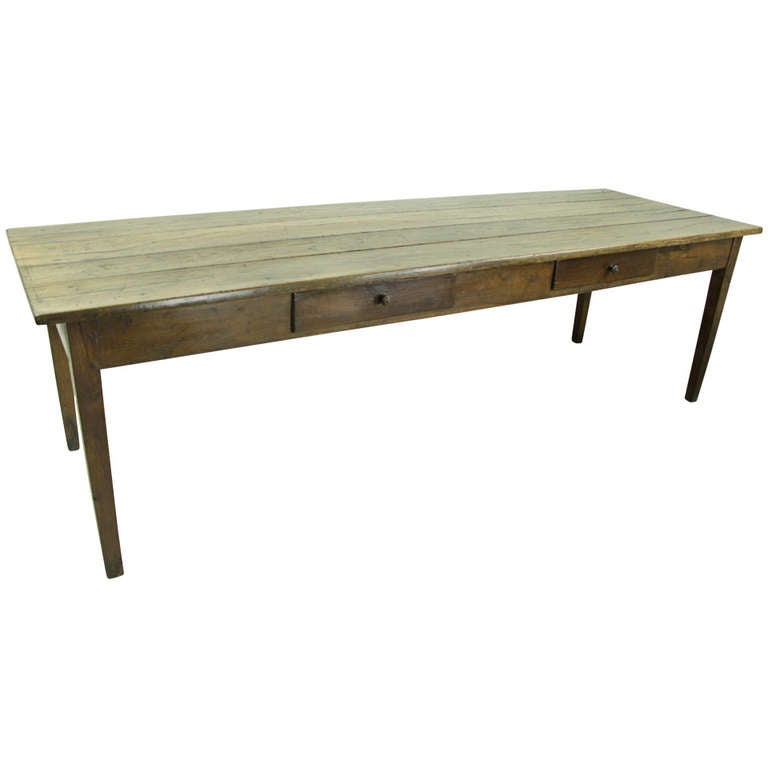 This antique french cherry side table is no longer available - Large French Antique Farmhouse Table At 1stdibs